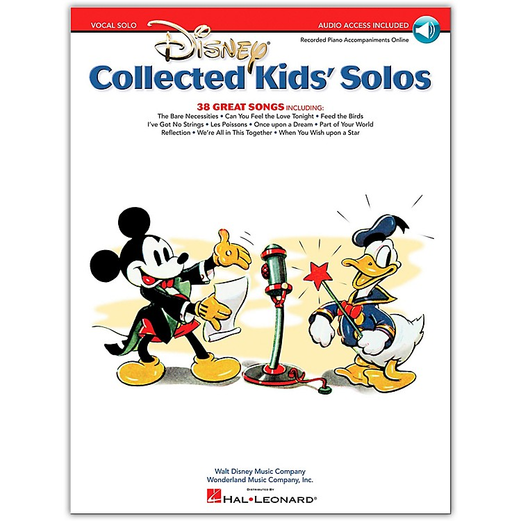 Hal Leonard Disney Collected Kids' Solos Book/CD