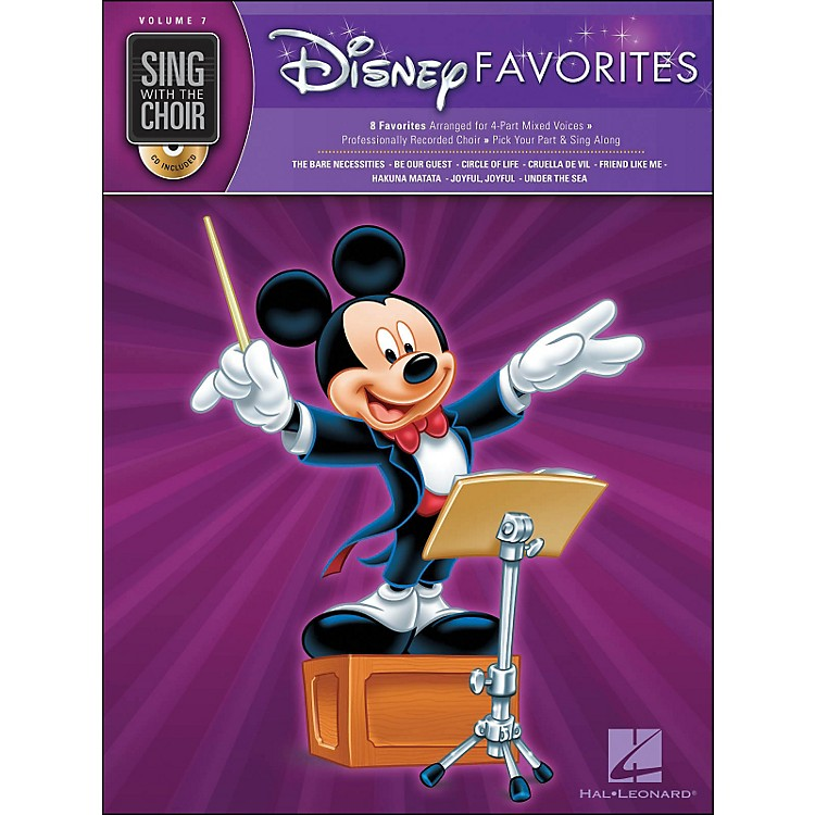 Hal LeonardDisney Favorites - Sing with The Choir Series Vol. 7 Book/CD
