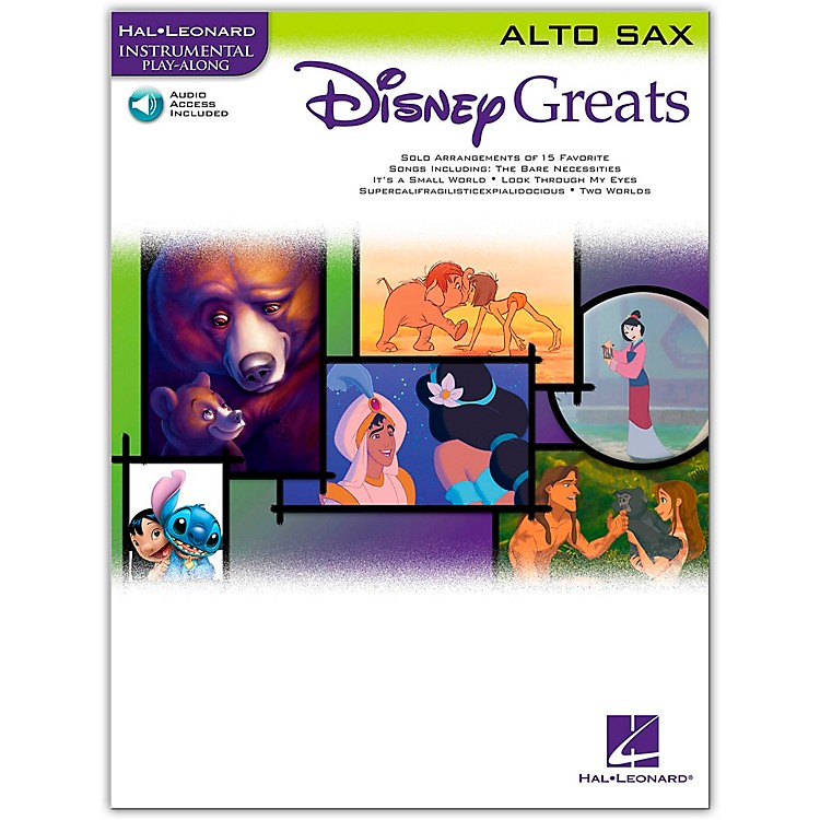 Hal LeonardDisney Greats for Alto Sax Book/CD Instrumental Play-Along