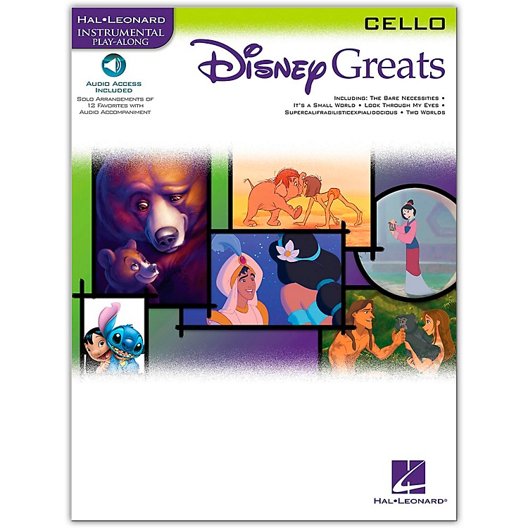 Hal Leonard Disney Greats for Cello Book/CD Instrumental Play-Along