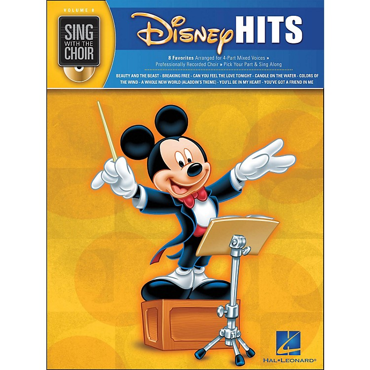 Hal LeonardDisney Hits - Sing with The Choir Series Vol . 8 Book/CD