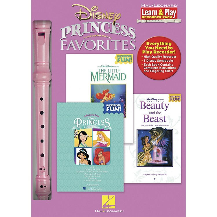 Hal Leonard Disney Princess Favorites Learn & Play 3-Book & Recorder Pack