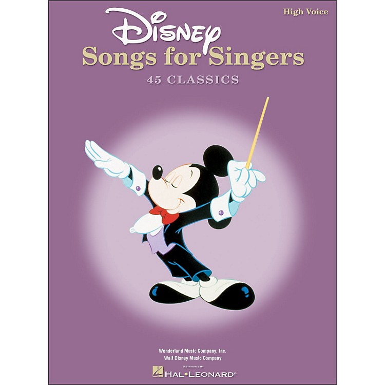 Hal Leonard Disney Songs for Singers for High Voice