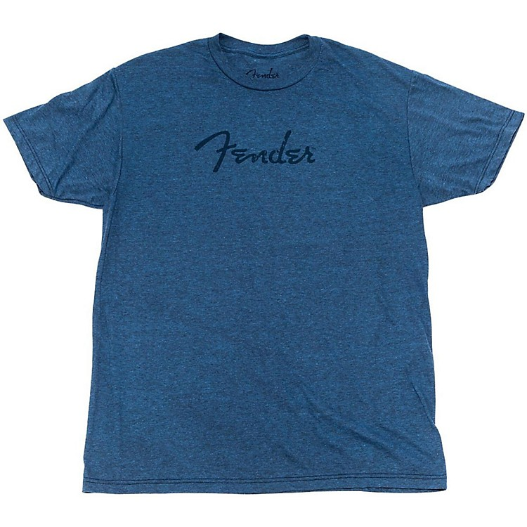 Fender Distressed Logo Premium T-Shirt Small Indigo Blue