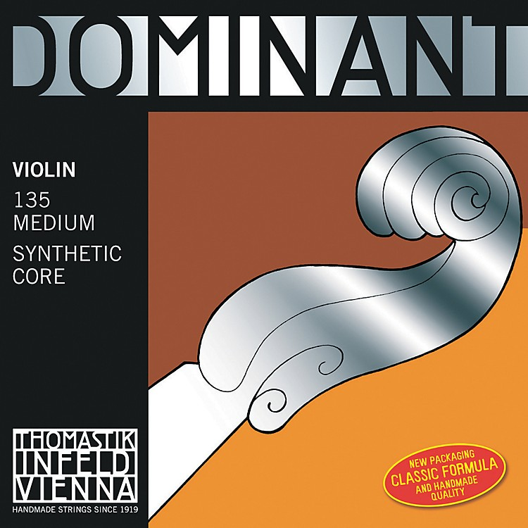 Thomastik Dominant 4/4 Size Violin Strings 4/4 Set, Wound E String, Loop End
