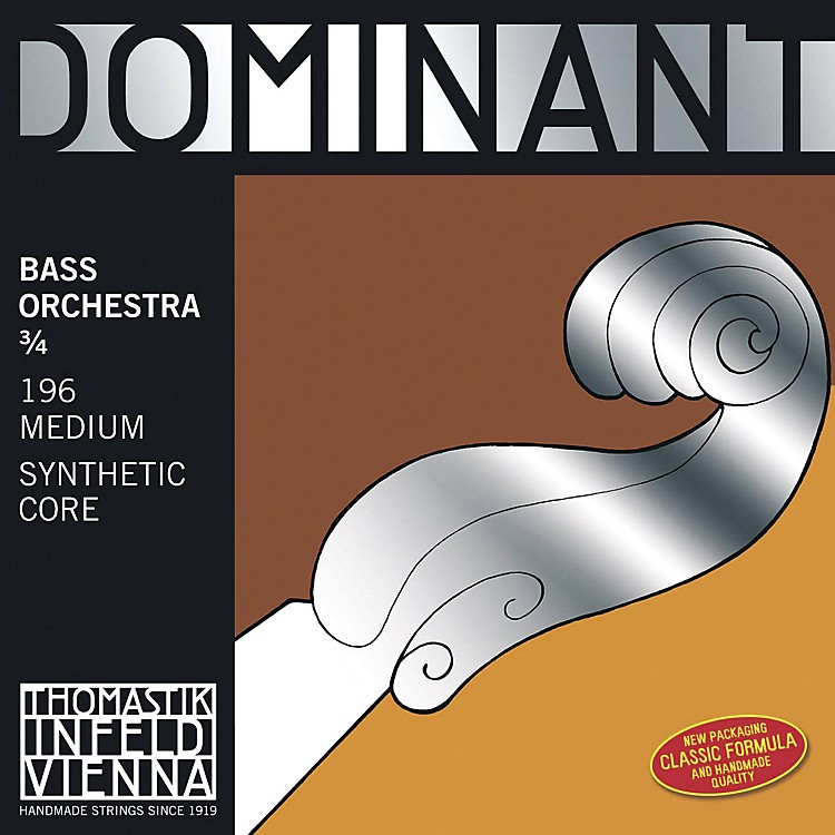Thomastik Dominant Bass Strings Set, Medium, Solo 3/4 Size