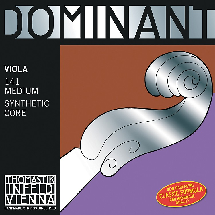 Thomastik Dominant Viola Strings 15+ in. Set, Silver D String