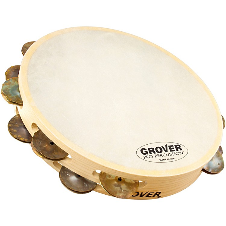 Grover Pro Double-Row German Bantamweight Tambourine Dry Copper 10 in.