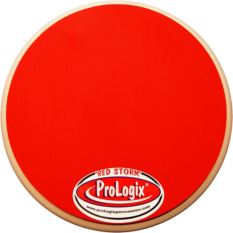 ProLogix Percussion Double-Sided Combo Practice Pad 6 in. Red Storm/Blackout