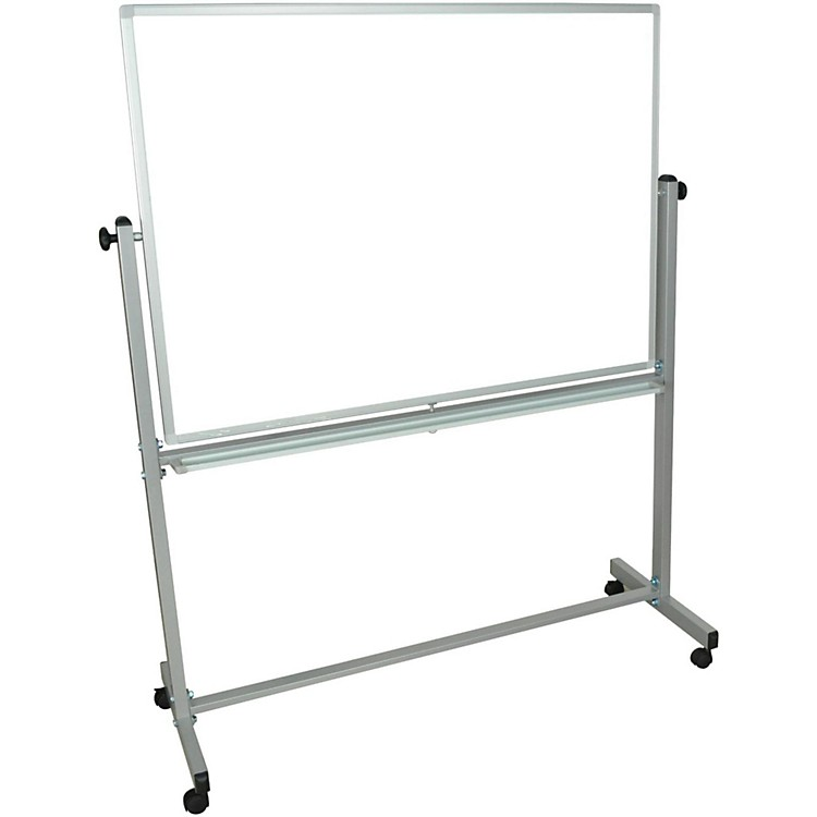 H. Wilson Double-Sided Mobile Whiteboard 48 x 36 in.