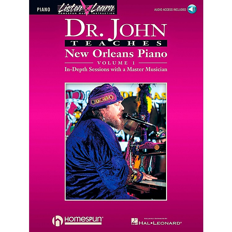 Hal Leonard Dr. John Teaches New Orleans Piano Volume 1 CD Package