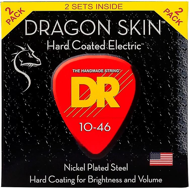 DR StringsDragon Skin (2 Pack) Medium Coated Electric Guitar Strings (10-46)