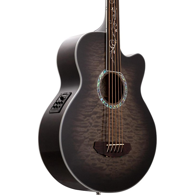 michael kelly dragonfly 5 string fretless acoustic electric bass smoke burst music123. Black Bedroom Furniture Sets. Home Design Ideas