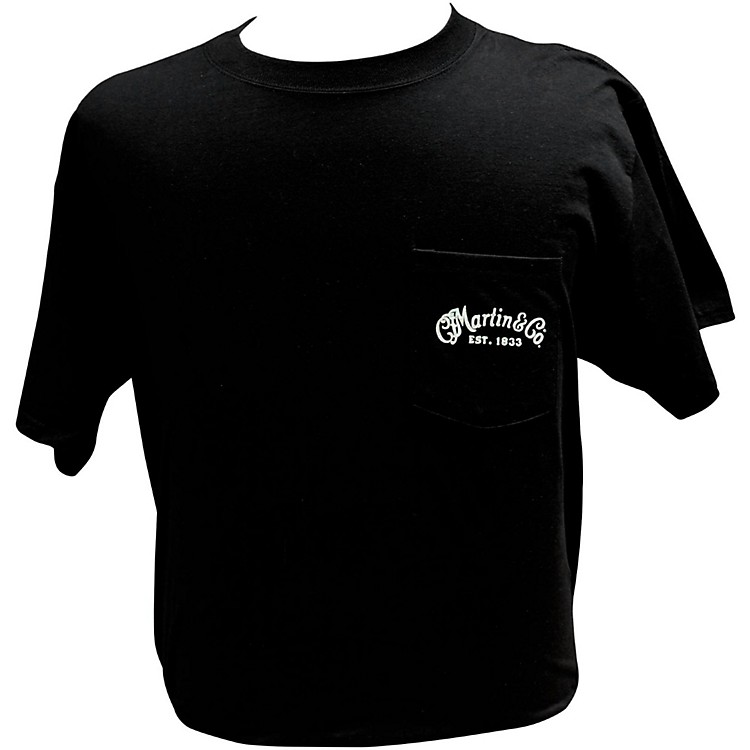 Martin Dreadnought Centennial Pocket T-Shirt Medium Black