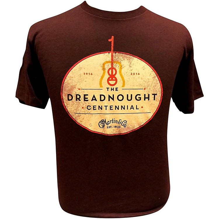 Martin Dreadnought Centennial T-Shirt Large Sangria