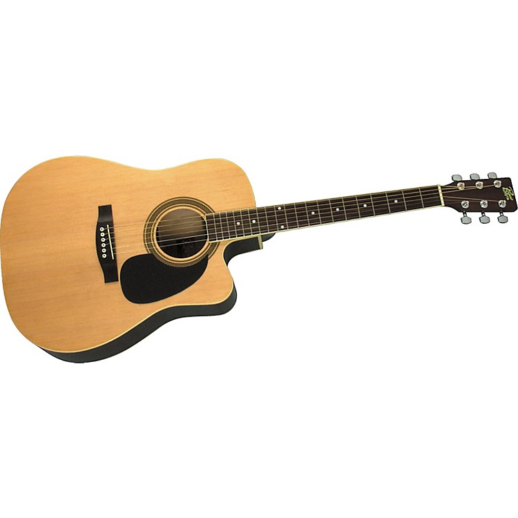 Rogue Dreadnought Cutaway Acoustic-Electric Guitar Natural
