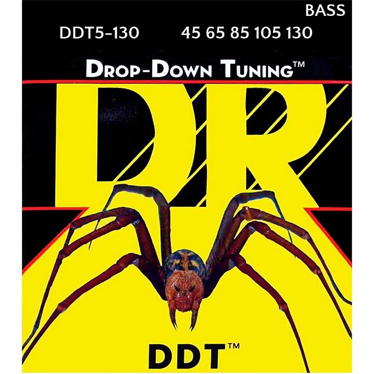 DR StringsDrop Down Tuning Medium 5-String Bass Strings (45-130)
