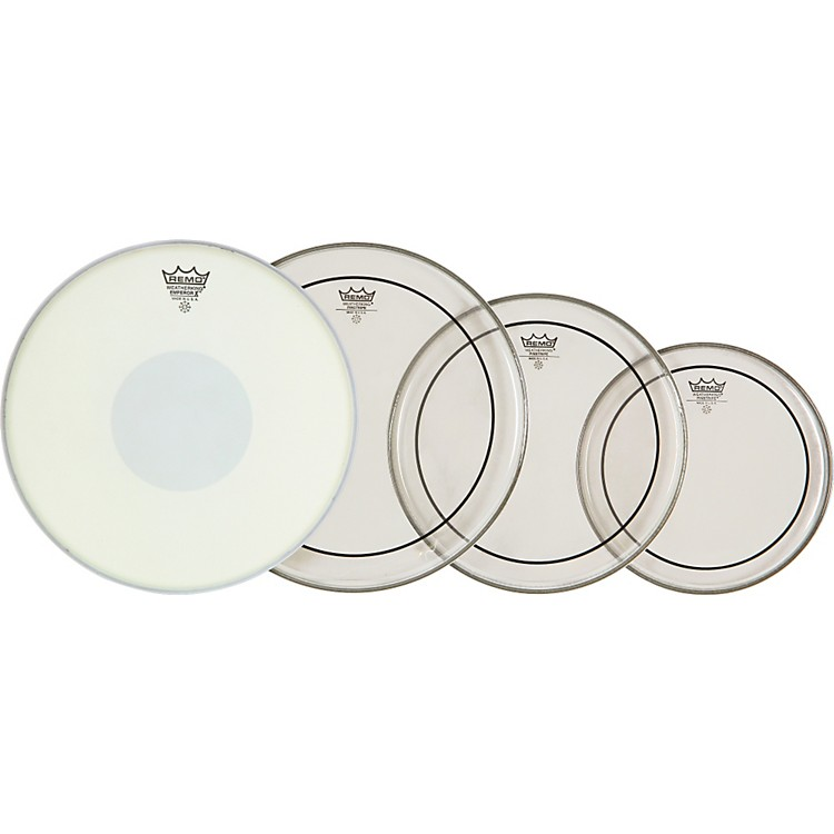Remo Drum Head Pack Clear Pinstripe with Emperor X Snare Head