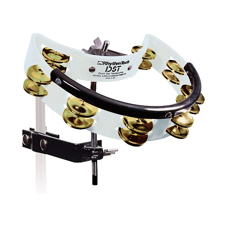 RhythmTech Drum Set Tambourine with Brass Jingles