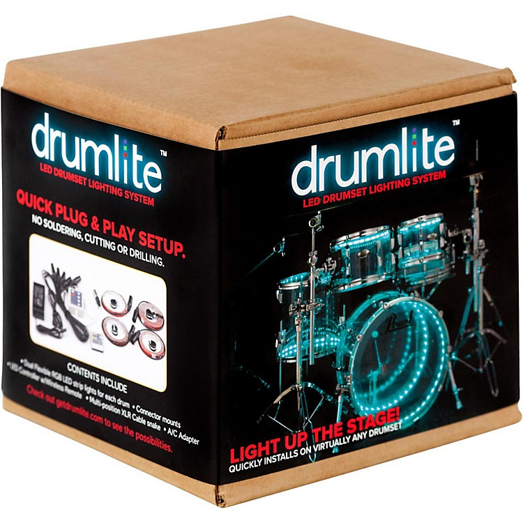DrumLite Dual-Band LED Drumset Lighting Kit 10 x 8, 12 x 9, 16 x 16, 22 x 18