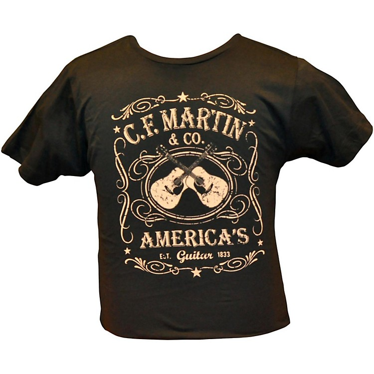 MartinDual Guitars Vintage T-ShirtBlack2XLarge