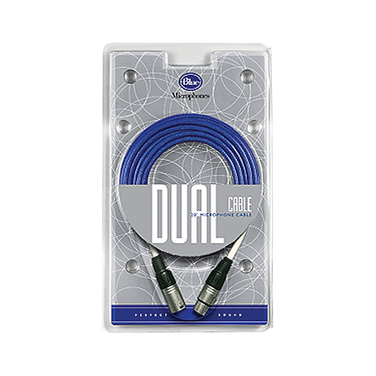 Blue Dual Microphone Cable Blue 20 Feet