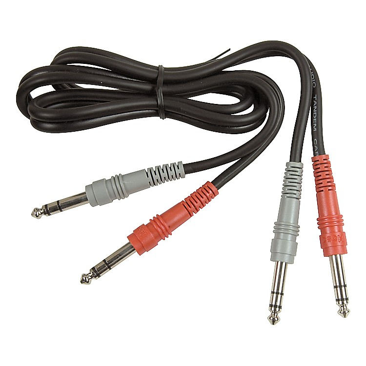 Hosa Dual TRS - TRS Patch Cable  3.3 ft.