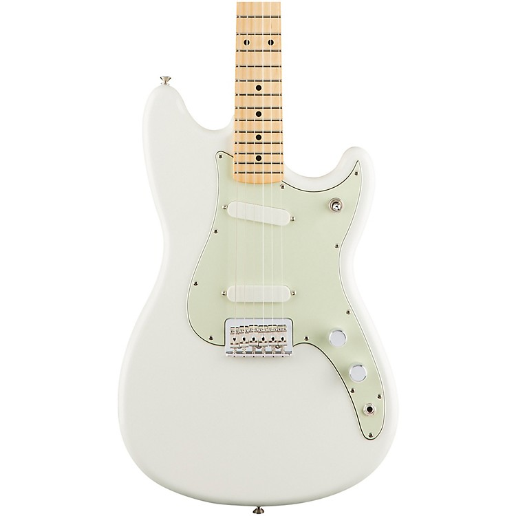 Fender Duo-Sonic Electric Guitar with Maple Fingerboard Aged White