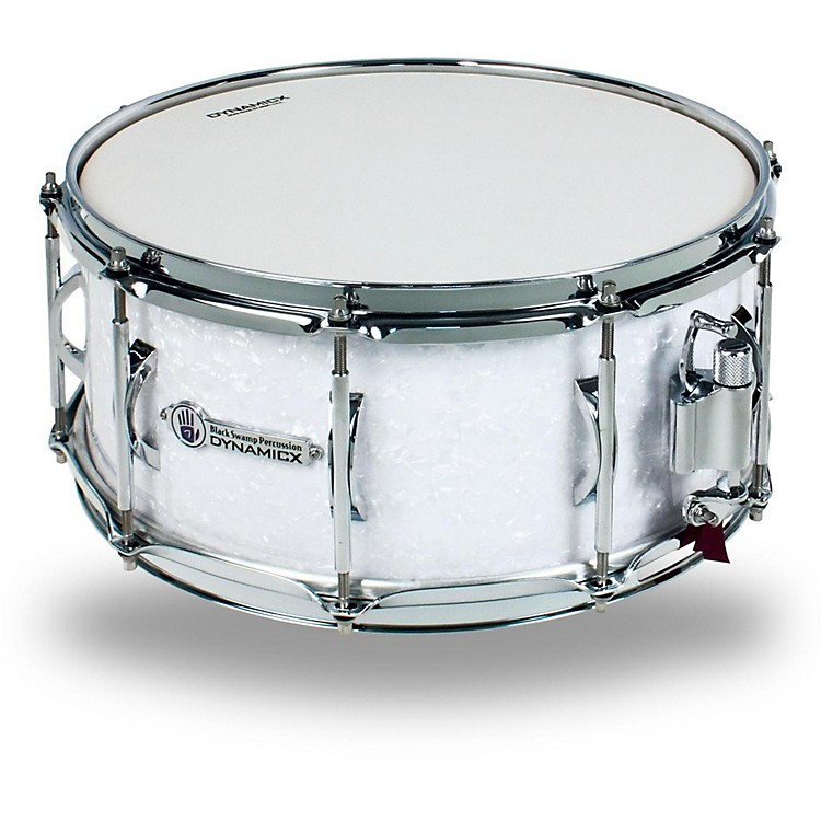 Black Swamp Percussion Dynamicx BackBeat Series Snare Drum 14x6.5 in. White Pearl