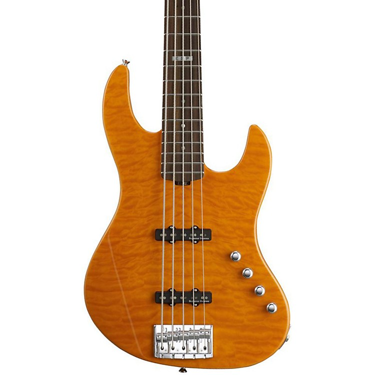 ESPE-II J-5 5 String Electric Bass GuitarAmber