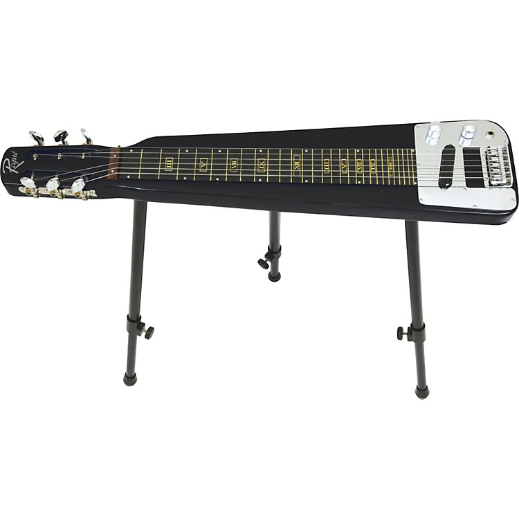 Rogue EA-3 Lap Steel Guitar with Stand and Gig Bag Metallic Black
