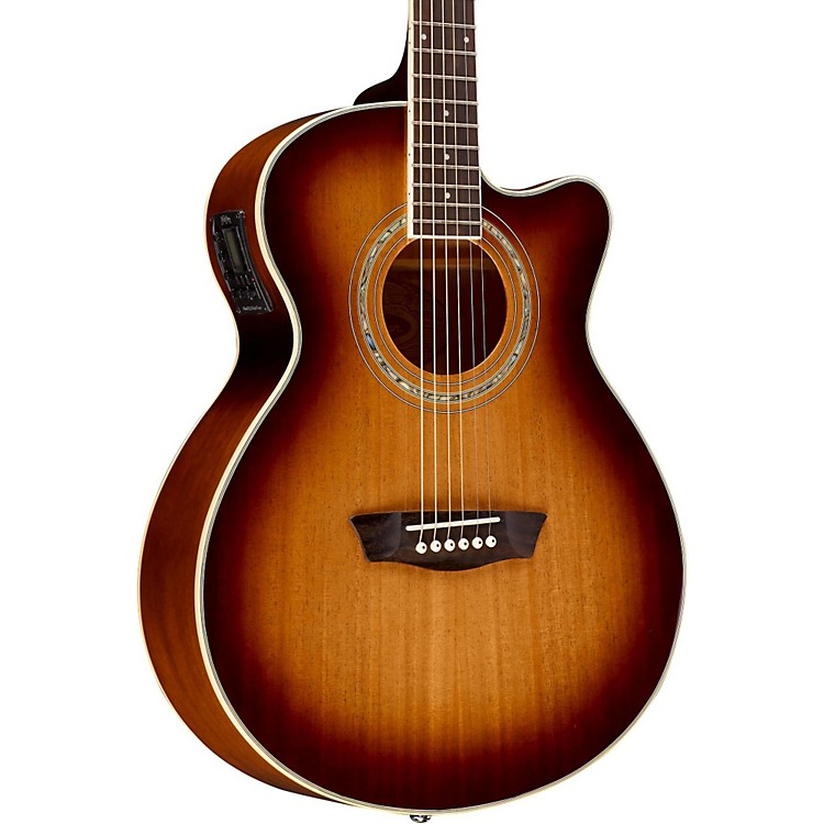 WashburnEA14MTEB Mini Jumbo Mahogany Acoustic-Electric GuitarEdge Burst