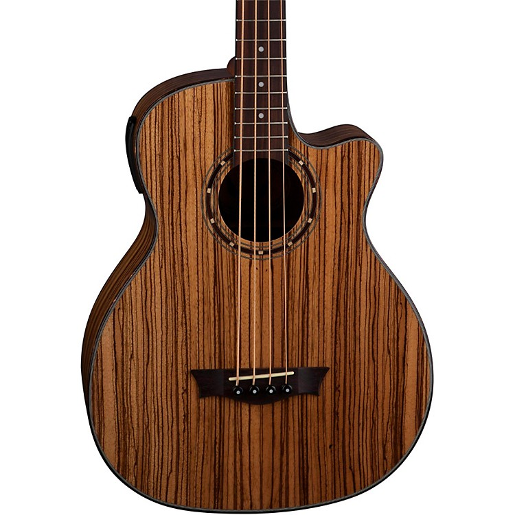Dean EAB AE Acoustic-Electric Bass Guita Zebra Wood Rosewood Fingerboard