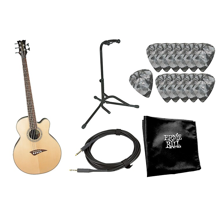 Dean EABC 5-String Acoustic-Electric Bass with Accessory Pack Natural
