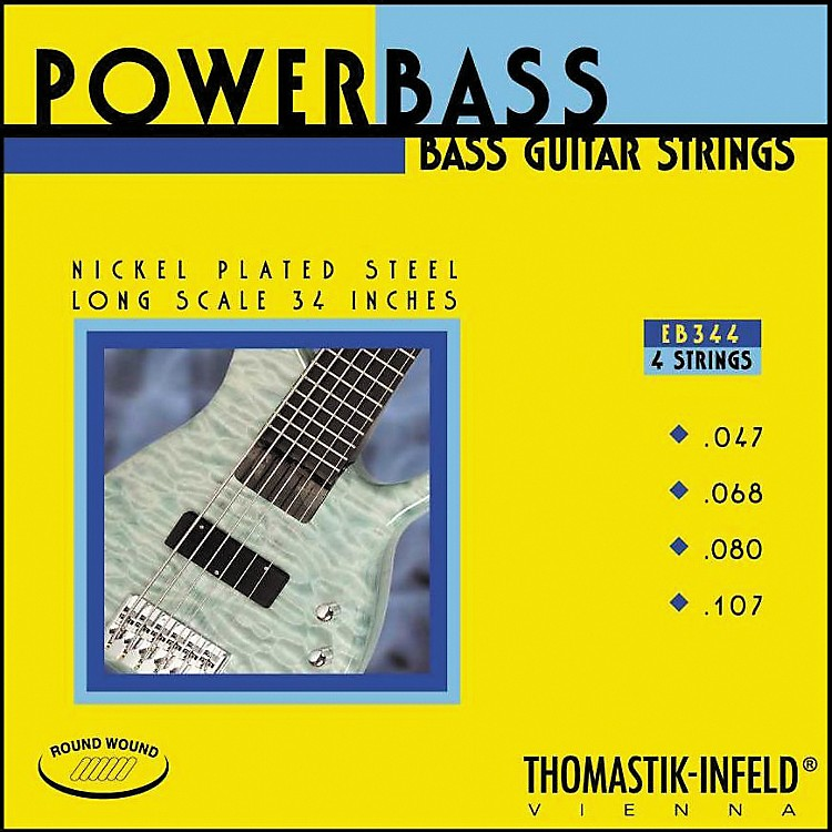 ThomastikEB344 Medium-Light Power Bass Roundwound 4-String Bass Strings