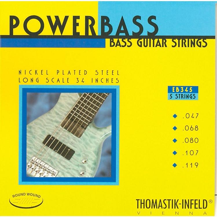 ThomastikEB345 Medium-Light Power Bass Roundwound 5-String Bass Strings