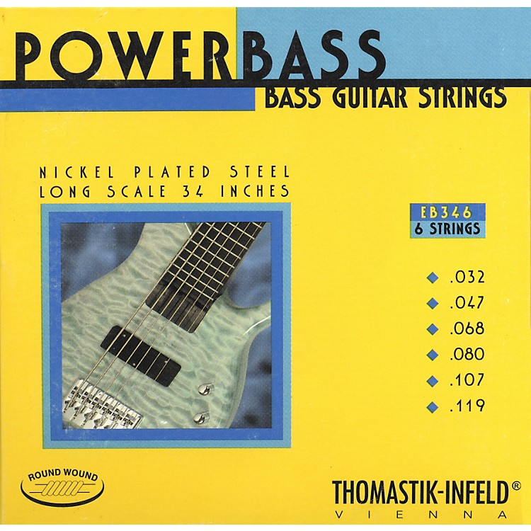 Thomastik EB346 Medium Light Power Bass Roundwound 6-String Bass Strings