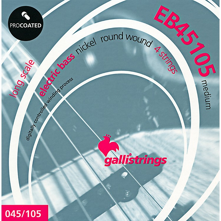 Galli Strings EB45105 PROCOATED Medium Bass Strings 45-105