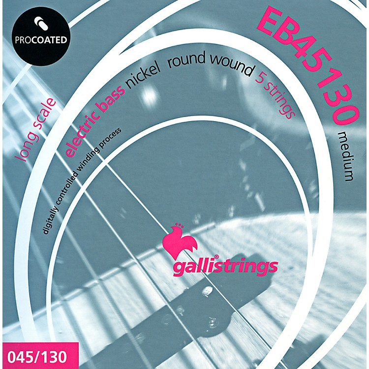Galli StringsEB45130 PROCOATED 5-String Medium Bass Strings 45-130