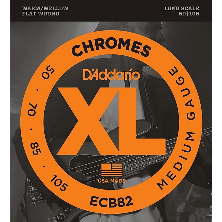 D'AddarioECB82 Chromes Flatwound Medium Bass Strings