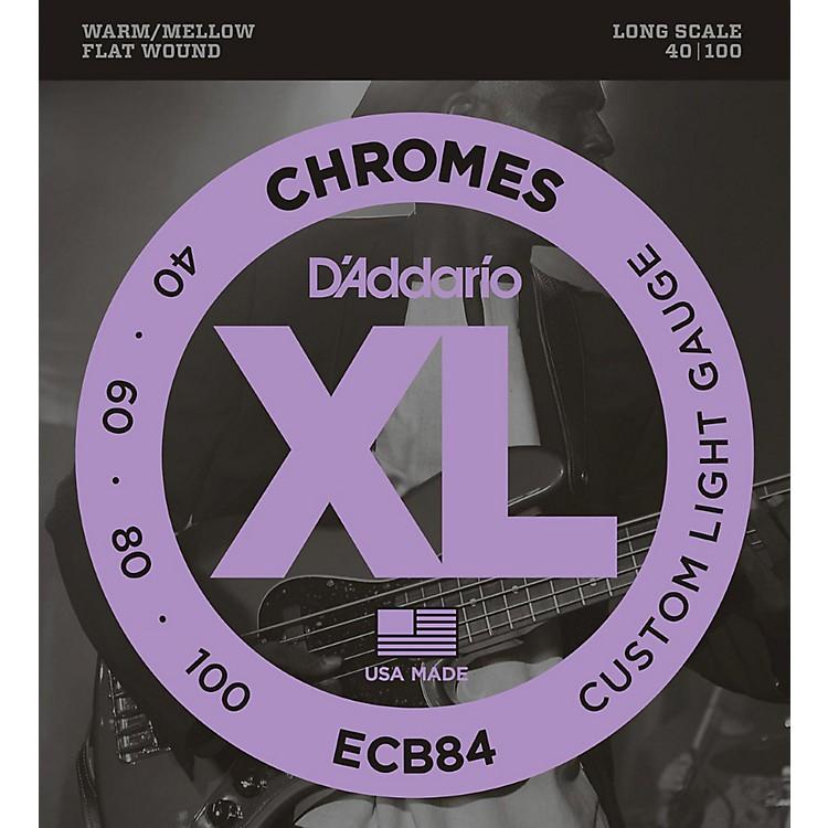 D'AddarioECB84 Chromes Flat Wound Custom Light Long Scale Electric Bass Strings