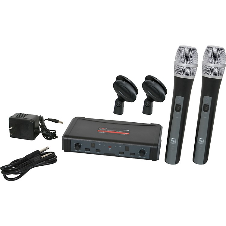 Galaxy Audio ECD Dual Channel UHF Wireless System with Dual HH38 Handhelds Band L (655-679 MHz)