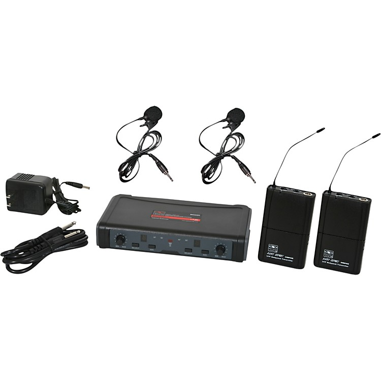 Galaxy Audio ECD Dual Channel UHF Wireless System with Dual Lavalier Microphones