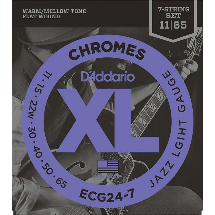 D'AddarioECG24-7 7-String Chrome Flat Wound Electric Guitar Strings