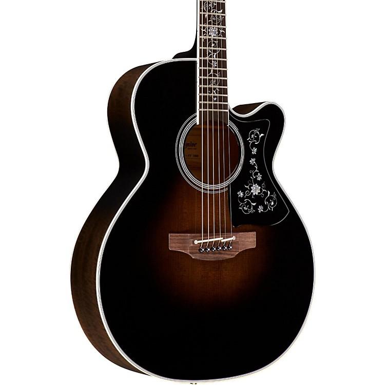 TakamineEF450C Thermal Top Acoustic-Electric GuitarTransparent Black Sunburst