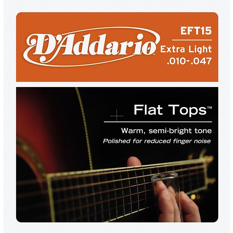 D'AddarioEFT15 Flat Top PB Extra Light Acoustic Guitar Strings