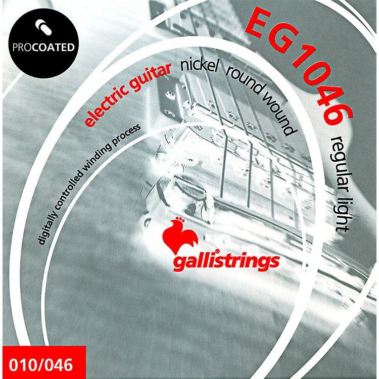 Galli Strings EG1046 PROCOATED Regular Light Electric Guitar Strings 10-46