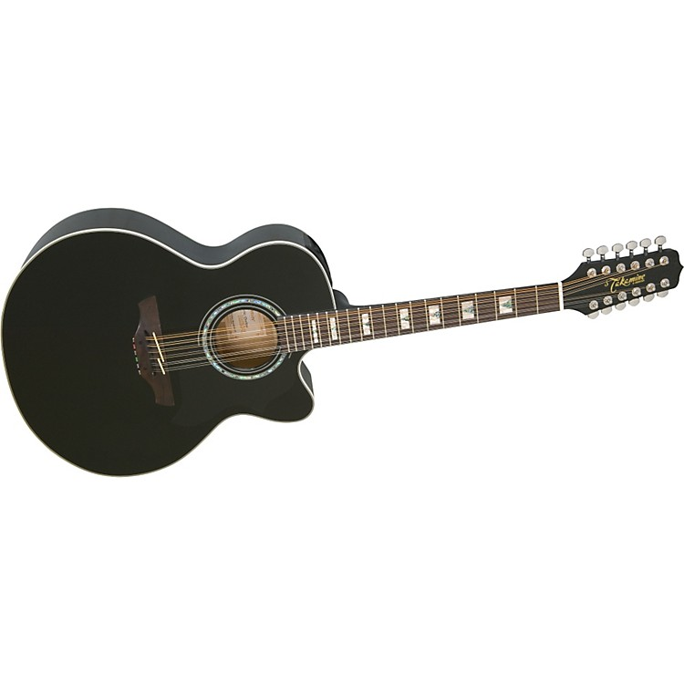 Takamine EG523SC12 12-String Acoustic-Electric Guitar Black