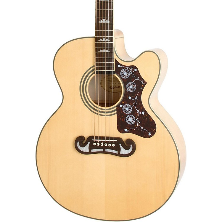 Epiphone EJ-200SCE Acoustic-Electric Guitar Natural
