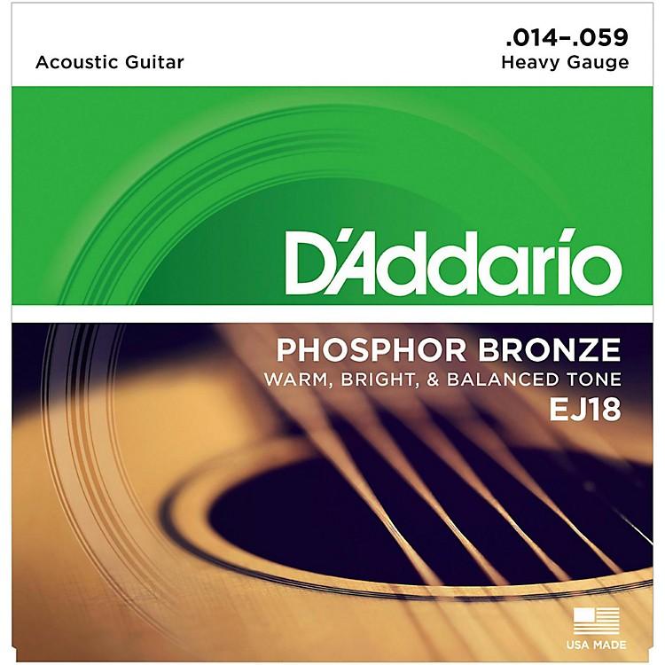 D'AddarioEJ18 PB Heavy Acoustic Guitar Strings Set